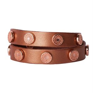 Picture of Rose Gold Leather Wrap with Rose Gold Studs